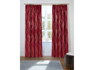 Guido Maria Kretschmer Home&Living Vorhang »Prag«, Kräuselband (1 Stück), democratichome Edition, rot, burgund