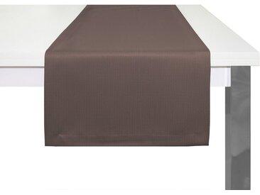 Adam Tischläufer »Uni Collection«, GOTS zertifiziert, nachhaltig, braun, dunkelbraun