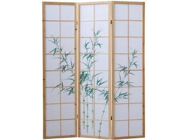 Homestyle4u Paravent, Raumteiler Bambusmuster, mehrere Größen