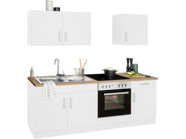 HELD MÖBEL Küchenzeile »Gera«, mit E-Geräten, Breite 210 cm, weiß, weiß