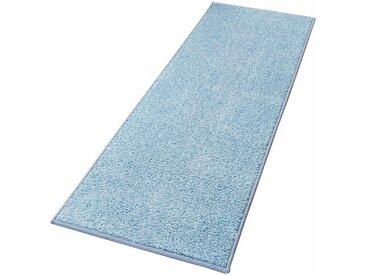 HANSE Home Läufer »Pure 100«, rechteckig, Höhe 13 mm, Velours Haptik, blau, blau