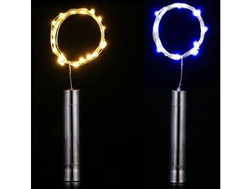 TOPMELON Lichterkette, 15-flammig, LED, bunt, 15 St. - 15 St., Warmweiß*2+Blau*2