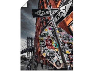 Artland Wandbild »New York Street Fotografie«, Amerika (1 Stück), Poster