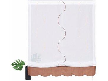 my home Raffrollo »Tayma«, mit Klettband, weiß, weiß-braun