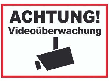 HB-Druck Metallschild »Achtung Videoüberwachung Kameraüberwachung Schild«, 2mm Aluminiumverbundpaltte mit Digitaldruck und Schutzlaminat, nichtklebend