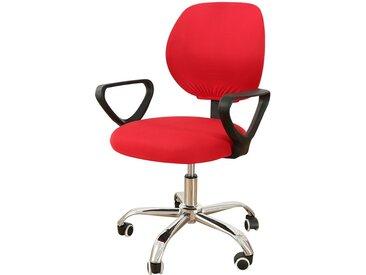 TOPMELON Bürostuhlhusse, (2-tlg/ Paar) Elastisches Material, Bürostuhlbezug, Geteilter Stuhlbezug, rot, Rot
