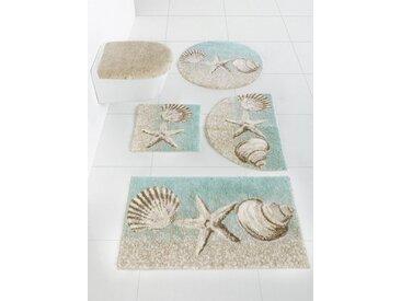 Grund Badgarnitur mit Strand-Motiv, natur, sand/türkis