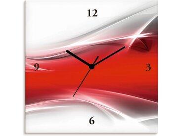 Artland Wanduhr »Kreatives Element«, rot, Quarzuhr, rot
