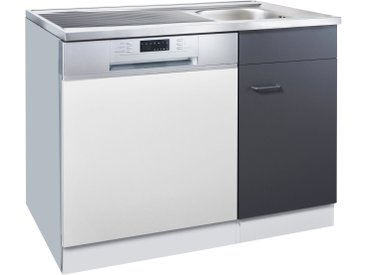 HELD MÖBEL Spülenschrank »Elster« 100/60 cm, weiß, anthrazit/ weiß