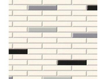 living walls Schaumtapete »Il Decoro«, Fliesen-Optik, natur, schwarz-grau