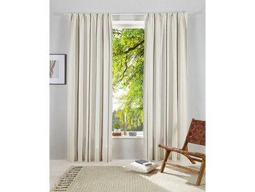 OTTO products Gardine »Matts«, Stangendurchzug (1 Stück), blickdichter Vorhang, weiß, weiß-schwarz