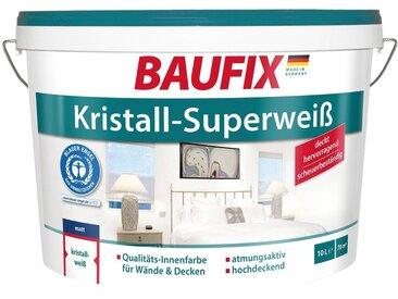 Baufix BAUFIX Wand- und Deckenfarbe Kristall-Superweiß, 10 L, weiß, 10 l, weiß