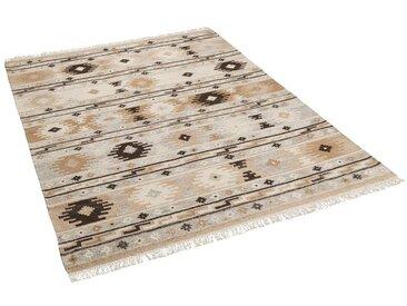 THEKO Wollteppich »Natur Teppich Kelim Sumak Trend«, Rechteckig, Höhe 10 mm