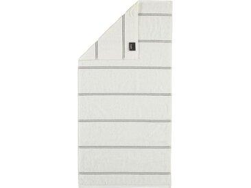 Cawö Handtücher »Carat Allover« (2-St), mit glitzer Streifen, weiß, weiß