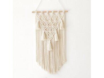 natuli Wanddekoobjekt »Makramee Boho Chic Makramee Wandteppich Wanddeko aus Baumwolle Handgefertiges für Haus Apartment Schlafsaal Wohnzimmer 40*70cm«