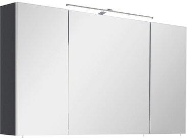 OPTIFIT Spiegelschrank »Ava« mit LED Beleuchtung, grau, anthrazit Glanz