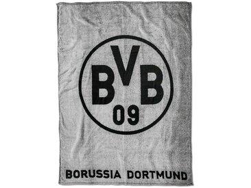 Borussia Dortmund BVB-Fleecedecke (grau), schwarz, schwarz/gelb