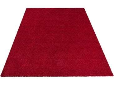 Theko Exklusiv Wollteppich »Gabbeh uni«, rechteckig, Höhe 15 mm, rot, bordeaux