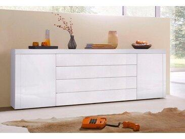 borchardt Möbel Sideboard, Breite 200 cm, weiß, Weiß-Hochglanz