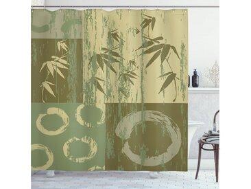 Abakuhaus Duschvorhang »Moderner Digitaldruck mit 12 Haken auf Stoff Wasser Resistent« Breite 175 cm, Höhe 180 cm, Grün Vintage Bambus