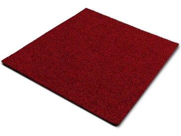 casa pura Teppichfliese »Can Can«, Quadratisch, Höhe 6 mm, Gerippt, Selbstliegend, rot, Rot
