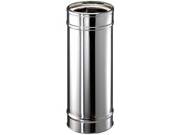 Zitec ZICKWOLFF Edelstahl-Schornstein Rohrelement, 15 cm Innendurchmesser, silberfarben, silberfarben