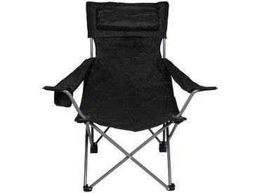 FoxOutdoor Campingstuhl, schwarz, Schwarz