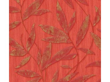 living walls Vliestapete »Siena«, floral, geblümt, mit Blumen, rot, rot-goldfarben