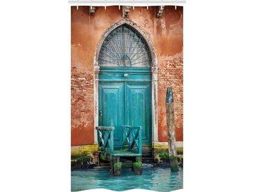Abakuhaus Duschvorhang »Badezimmer Deko Set aus Stoff mit Haken« Breite 120 cm, Höhe 180 cm, Venedig Gebäudetür