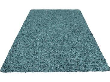 Home affaire Hochflor-Teppich »Viva«, rechteckig, Höhe 45 mm, blau, aquamarin