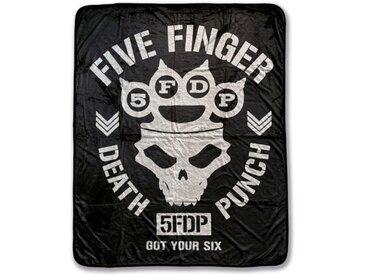 Klangundkleid Bett, »Five Finger Death Punch Punchgramm Fleecedecke 100% Polyester 130 x 160 cm Neu«