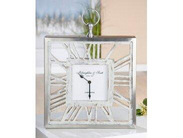 GILDE Standuhr »Uhr Atona« (1-St), eckig, römische Ziffern