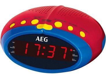 AEG Radiowecker (UKW/MW Radio, Uhrenradio, Radiowecker, für Kinder, UKW/MW Radio, 24 Stunden LED Display, Einschlafautomatik 90min, Weckfunktion, Wurfantenne