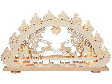 SAICO Original 3D-Lichterbogen Springende Hirsche, natur, Natur