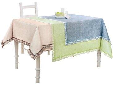 Tischdecke, blau, blau