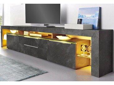 borchardt Möbel Lowboard, Breite 220 cm, grau, schieferfarben
