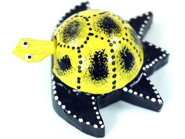 Guru-Shop Dekofigur »Wackeltier Schildkröte, Wackelkopf Tier«, gelb, gelb-blau