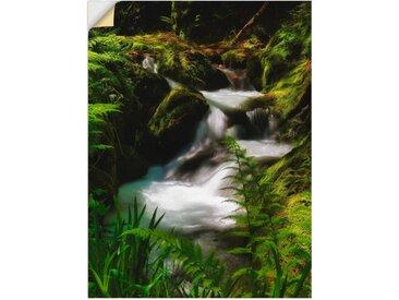 Artland Wandbild »Zauberbach«, Gewässer (1 Stück), in vielen Größen & Produktarten -Leinwandbild, Poster