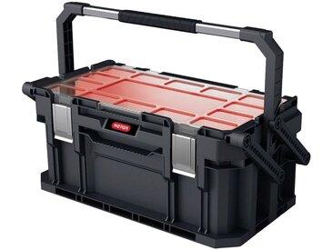 Keter KETER Werkzeugkasten »Connect«, 26 l Fassungsvermögen, mit 2 großen Fächern, 56x32x25cm, schwarz, schwarz