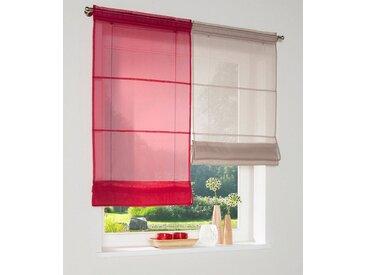 my home Bändchenrollo »Xana«, mit Stangendurchzug, rot, rot