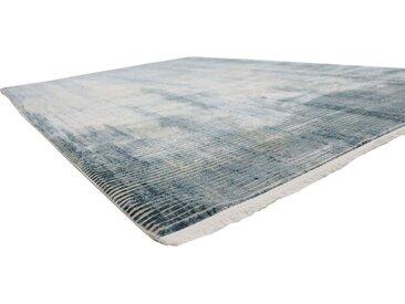 RESITAL The Voice of Carpet Teppich »Couture 110«, rechteckig, Höhe 8 mm, Kurzflor mit Hoch-Tief-Struktur, blau, türkis