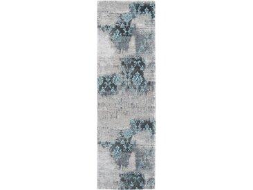 OCI DIE TEPPICHMARKE Läufer »Diana Melody«, rechteckig, Höhe 5 mm, Flachgewebe, grau, blau-grau