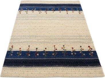 carpetfine Wollteppich »Gabbeh Loom Lori«, rechteckig, Höhe 15 mm, Sehr weicher Flor, blau, blau