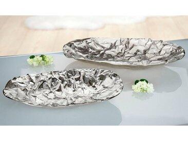 GILDE Dekoschale »Schale Arrugada, oval« (1 Stück), aus Metall, flach