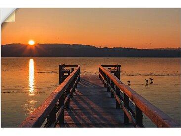 Artland Wandbild »Früh morgens am Ratzeburger See«, Sonnenaufgang & -untergang (1 Stück), in vielen Größen & Produktarten - Alubild / Outdoorbild für den Außenbereich, Leinwandbild, Poster