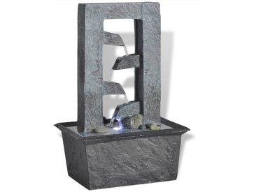 vidaXL Zimmerbrunnen » Zimmerbrunnen mit LED-Licht Polyresin«