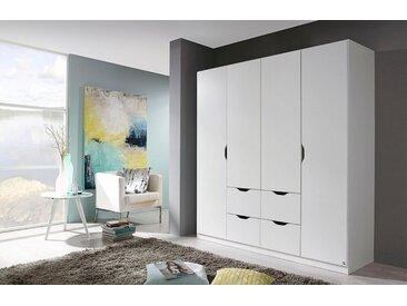 rauch BLUE Kleiderschrank »Freiham« mit Schubkästen, weiß, Schubladen: 4 - Türen: 4, weiß