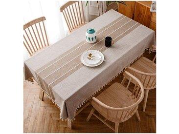 kueatily Tischdecke »Tischdecke Stickerei Quaste Tischdecke Rechteckig / Länglich Baumwolle Leinen Elegante Tischdecke Waschbar Küchentischdecke«