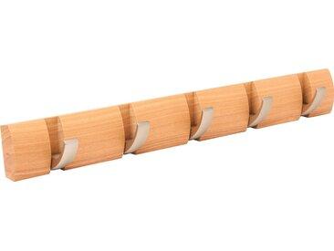 Umbra Garderobenleiste »Flip Hook«, (Set, 2), natur, nickelfarben-natur