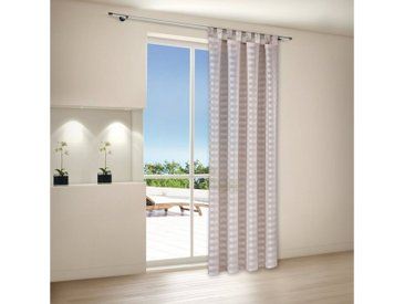 Gerster Vorhang »SARY Schlaufenschal, gestreift halbtransparent 140/235cm«, gestreift, natur, beige